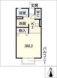 セジュール神谷[2階]の間取り