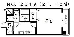 レ・コンフォルト[6階]の間取り
