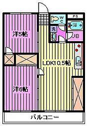 渋谷コート2号館[5階]の間取り