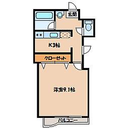 ケンコウ[3階]の間取り