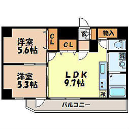L・FLORE CENTER STAGE[903号室]の間取り
