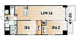 メゾンド・ファミ−ユ門司港[4階]の間取り