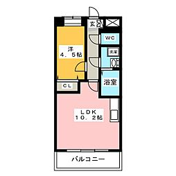 SOLLIEVO箱崎[7階]の間取り