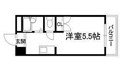スチューデントライフ横山[105号室]の間取り