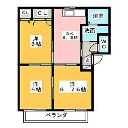 エスパシオ B[1階]の間取り