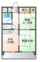 昭和コーポ[2階]の間取り