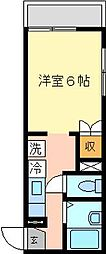 ファミーユ六浦[204号室]の間取り