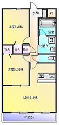グランヴェール青山B棟[1階]の間取り
