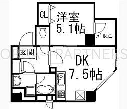 イデアル五反田1DK[201号室]の間取り