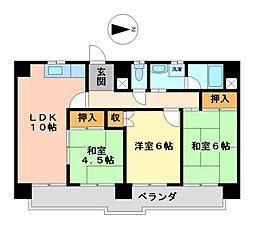 愛知県名古屋市中区金山5丁目の賃貸マンションの間取り