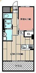 (仮)本城東マンション[107号室]の間取り