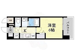 Osaka Metro谷町線 都島駅 徒歩7分の賃貸マンション 3階1Kの間取り