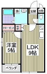 GARDEN MIYAKOI[2階]の間取り