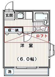 ロゼ狭山[2階]の間取り