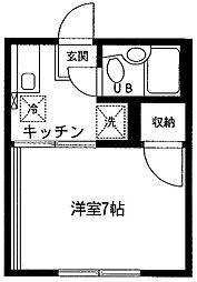 成瀬ハイツI[201号室]の間取り