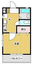 スターハイツ吉野[2階]の間取り