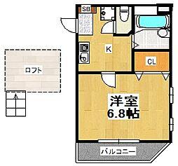 越谷レジデンシャルマンション[3階]の間取り