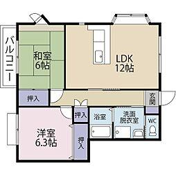 静岡県浜松市西区志都呂町の賃貸アパートの間取り