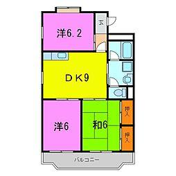 東海市 メゾン・ド・シャトレーヌ[0106号室]の間取り