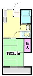 富岡ハイツ[2階]の間取り