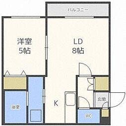 北海道札幌市中央区北四条東5の賃貸マンションの間取り