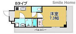 TOYOTOMi STAY Premium 天王寺公園南III 9階1Kの間取り