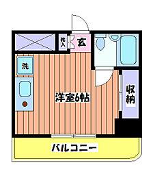 第26クリスタルマンション[5階]の間取り