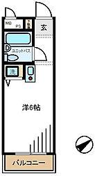 日興パレス桜新町[2号室]の間取り
