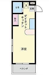 神奈川県相模原市中央区上矢部1丁目の賃貸マンションの間取り