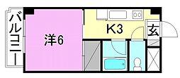 エトワール福音寺[401 号室号室]の間取り