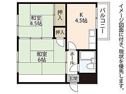 広島県広島市中区橋本町の賃貸マンションの間取り