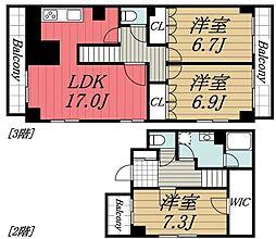 [タウンハウス] 千葉県千葉市若葉区西都賀1丁目 の賃貸【/】の間取り