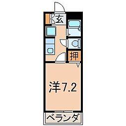 1115ピュアメゾンM[4階]の間取り
