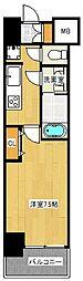 Mid Court Umekita[3階]の間取り