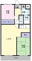 大阪府堺市西区津久野町1丁の賃貸マンションの間取り