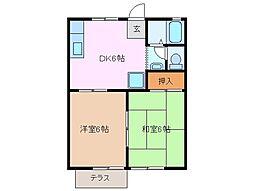 ロイヤル水谷 B棟[1階]の間取り