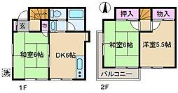 [一戸建] 東京都北区志茂5丁目 の賃貸【東京都 / 北区】の間取り