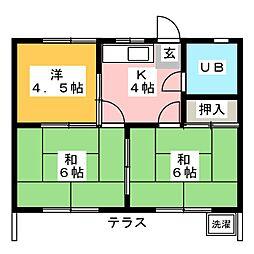 神村ハイツ[1階]の間取り