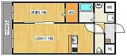 ソレイユ中央[503号室号室]の間取り