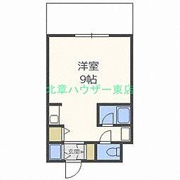 北海道札幌市東区北二十七条東2丁目の賃貸マンションの間取り