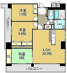 セントラルガーデンタワー[27階]の間取り