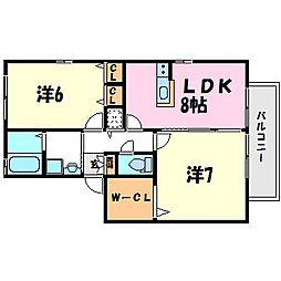 ディアコート名神 B棟[2階]の間取り