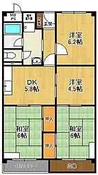 宝塚御殿山マンション[111号室]の間取り