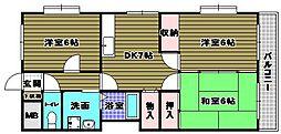 アーネットスタシオン大阪狭山[1階]の間取り