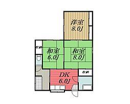 [一戸建] 千葉県千葉市若葉区都賀5丁目 の賃貸【/】の間取り