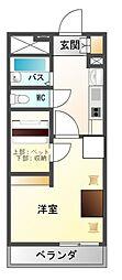 長野県上田市常磐城3丁目の賃貸アパートの間取り