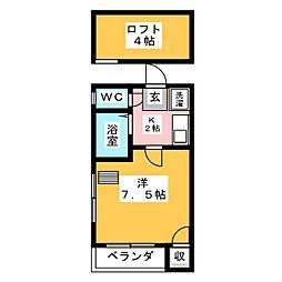 サクシードコートI[1階]の間取り