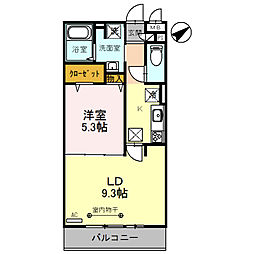 埼玉県春日部市粕壁東2丁目の賃貸アパートの間取り