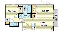 (仮称)D-room田寺東[101号室]の間取り