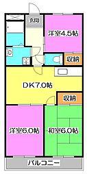 東京都練馬区大泉学園町8丁目の賃貸マンションの間取り